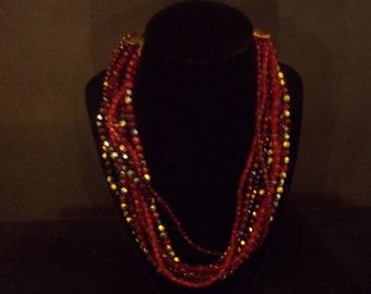 Red Aurora Borealis Necklace