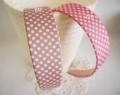 NO.222 223 - Pink polka dot  headband