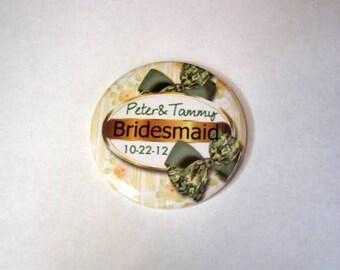 Personlized Bridesmaid Pocket Mirror