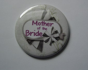 Mother of the Bride Pocket Mirror or Mother of the Groom