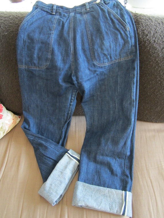 Reproduction 50s jeans Freddies of Pinewood selvedge yellow line 30 34