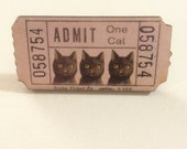 Cats Only Brooch