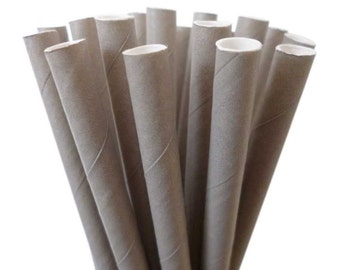 Gray Paper Straws--25 GRAY Straws Gray SOLID Paper Straws Retro Vintage: Gray Weddings, Gray Birthday Party, Gray Baby Shower, Diy Flags