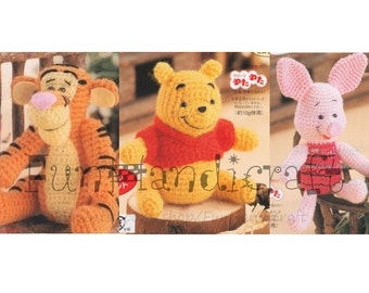 Disney Winnie the pooh and friends Amigurumi Pattern in English(E-book in PDF format) piglet tigger Instant Download