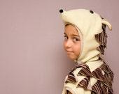 Halloween Costume, Hedgehog, Party Porcupine Costume in yellow, beige and brown, Halloween Costume for Boys or Girls, Kid Costume, oht