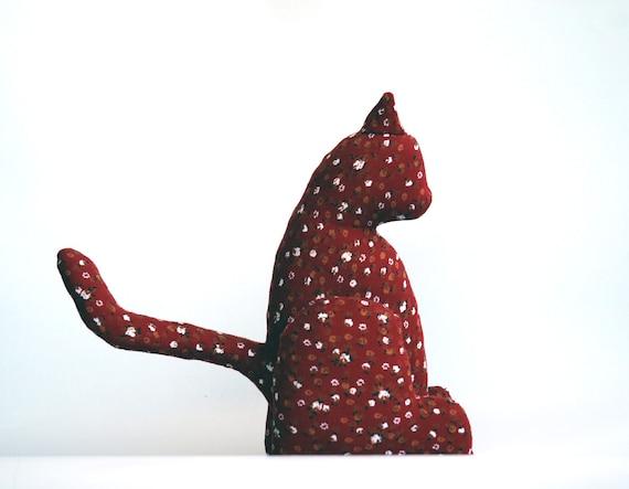 Red cat /soft sculpture
