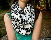 Trendy Black and White Eternity Infinity Scarf