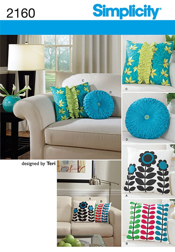Simplicity 2160 Decorative Throw Pillows Sewing by ucanmakethis