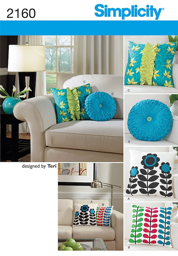 Decorative Throw Pillow Sewing Patterns : Simplicity 2160 Decorative Throw Pillows Sewing by ucanmakethis