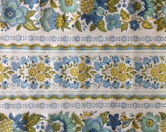 Vintage Thibaut Fabric Print named DEVON Yardage Decorator fabric