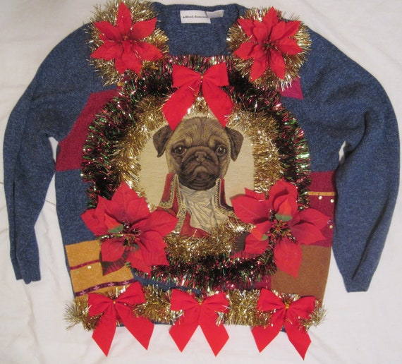 Christmas sweaters with dogs on them