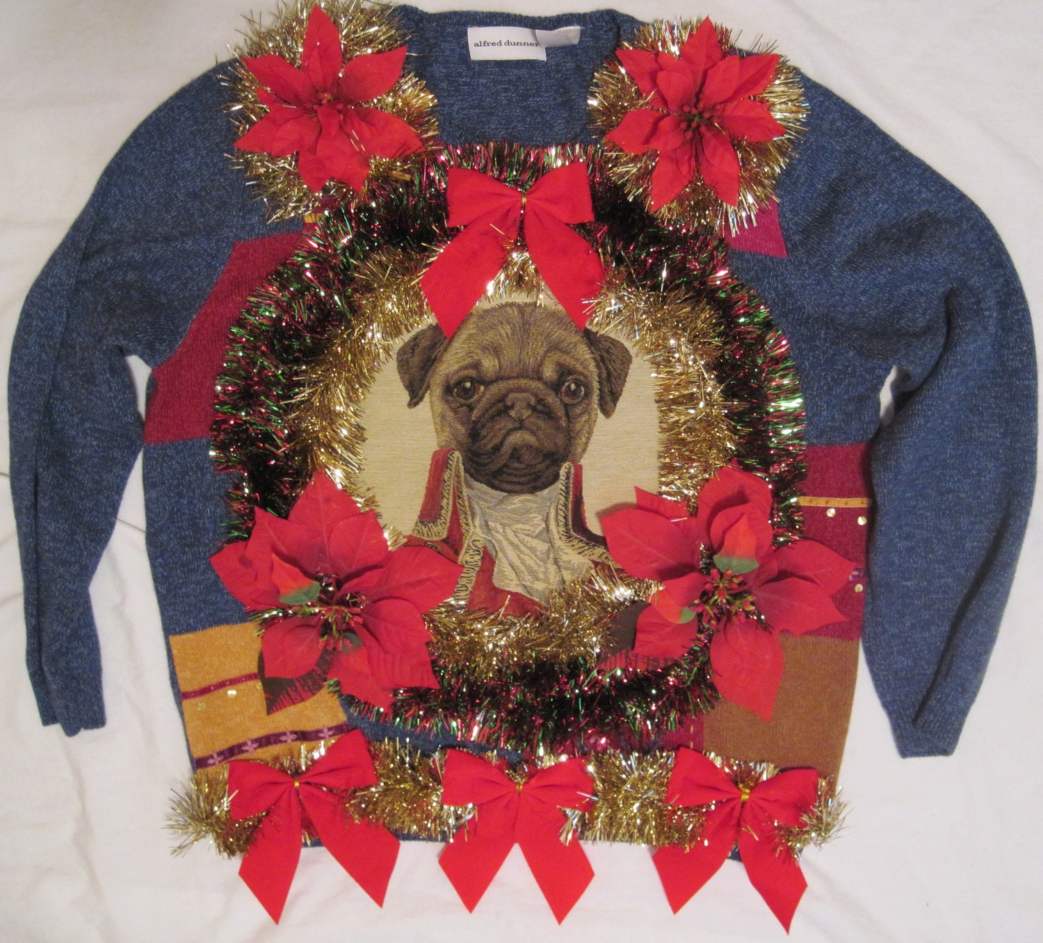ugly pug sweaters awesome pug dog ugly christmas sweater 786