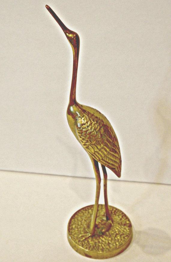 vintage brass crane egret heron art deco hollywood regency. Black Bedroom Furniture Sets. Home Design Ideas