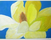 Original Oil Pastel Drawing: Mellow Yellow