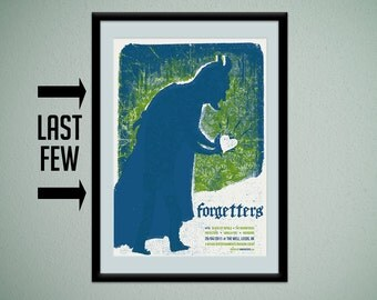 Forgetters - limited edition silkscreen concert poster - official commemorative gig poster