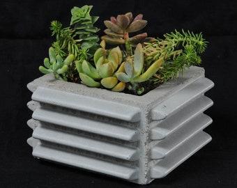 Square Ribbed Planter
