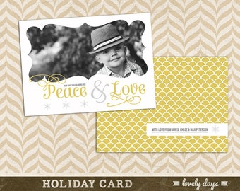 Christmas Card Holiday Card Template INSTANT DOWNLOAD
