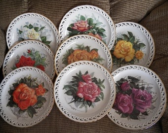 Hamilton American Rose Garden  Plates 1987 to 1989 by artist Paul J. Sweany - COMPLETE COLLECTION