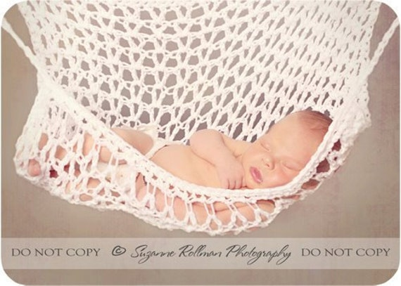 Items similar to Crochet PATTERN Baby Hammock for Photo ...
