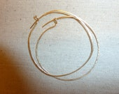 Gorgeous, Delicate Cold Forged Gold Filled Hoop Earrings