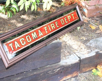 Tacoma Fire Department Gold Leaf Sign