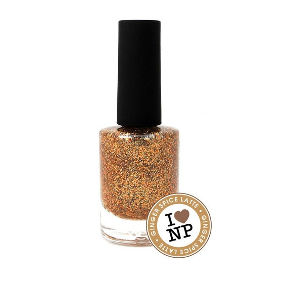 Ginger Spice Latte - Gold, Caramel, Copper Glitter Winter Nail Polish (LIMITED EDITION)