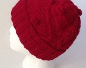 Woman hand kit hat, the pattern of Hermione's Cable and bobbles hat in Harry Potter and the Prisoner from Azkaban