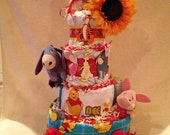 4 Tier Winnie the Pooh & Friends Diaper Cake Exclusively for Hanriette Akoopians