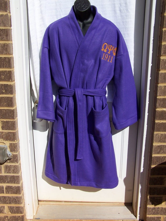 omega psi phi greek letter embroidered purple by