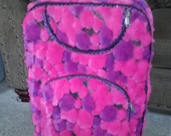 Hot Pink and Purple Luggage Set