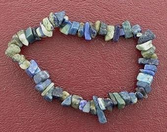 lapis chip beads stretch bracelet