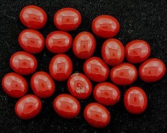 four 12x10 oval red jasper cabochon gem stone gemstone