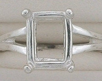 sterling silver 9x7 octagon ring mounting size 5