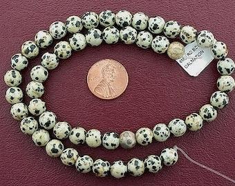 8mm round dalmation jasper 8mm gem beads