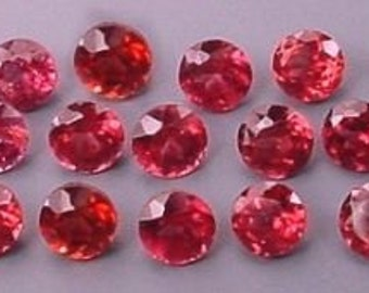 20 - 2.5mm round faceted garnet gem stone gemstone