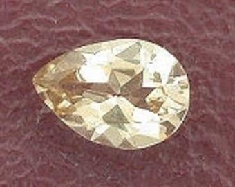 5x3 pear champagne topaz gem stone gemstone 5mm x 3mm