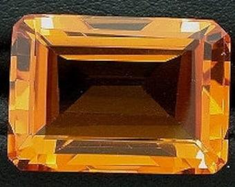 18x13 rich brandy octagon quartz gem stone gemstone