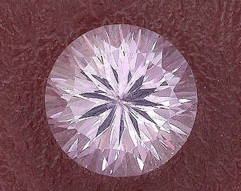 12mm round concave laser rose amethyst gem gemstone
