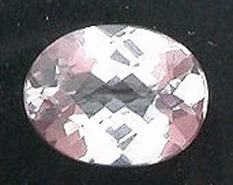 8x6 oval checkerboard morganite gem stone gemstone