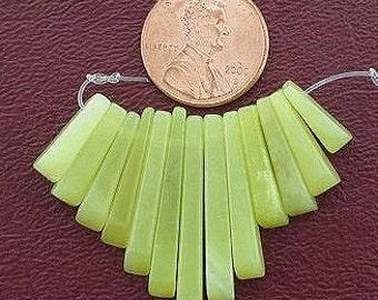 olive jade cleopatra 13 pc fan bead set