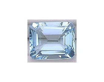 11x9 emerald cut sky blue topaz gem stone gemstone