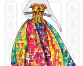 PDF Paper Doll High Fashion Golden Book Gown