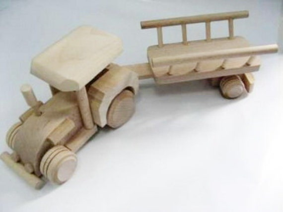Wooden Toys For Boys : Wood toys tractor for boys toddler wooden