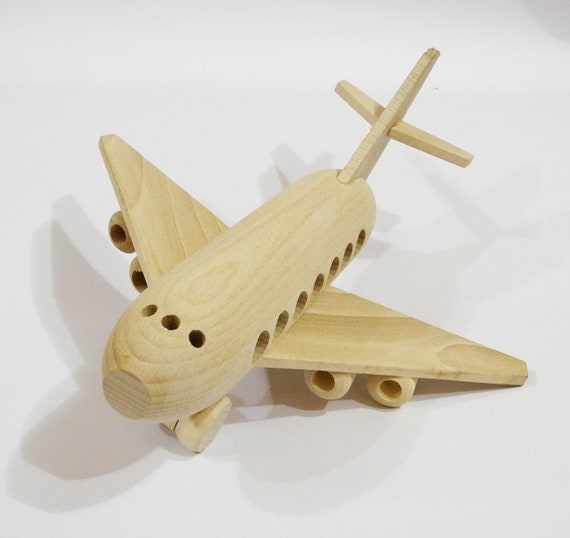 Wooden Toys For Boys : Airplane organichandcrafted wooden toys eco friendly