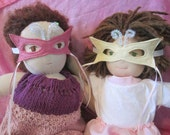 Waldorf Doll Clothes - Butterfly Mask  - Merino Wool Blend Felt - Stocking Stuffer & Ready to Ship