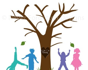 Customized Fingerprint Tree for Educators / Teachers - Great Gift for Christmas and Teacher Appreciation