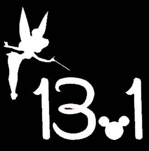 Tinkerbell Half Marathon Inspired Vinyl Decal