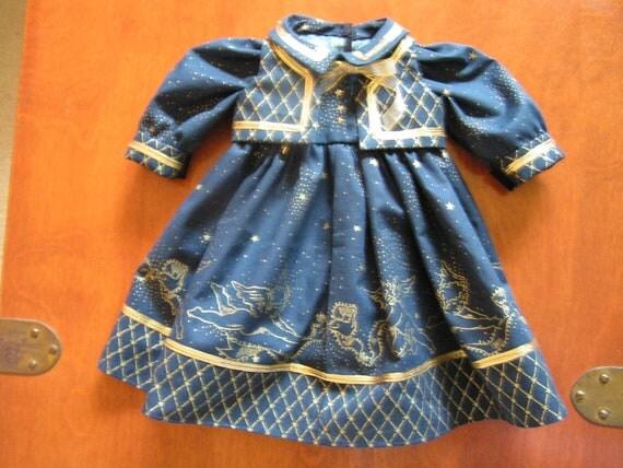 "Angel print Daisy Kingdom Doll Dress for 17 to 19"" Girl Doll"