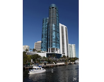 New River Downtown city of Fort Lauderdale Las Olas River house condo photo 8x12 fine art photography print