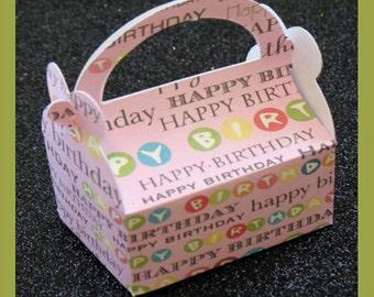 Girl Birthday Favor Box, Pink Birthday Favor Box, Pink Gift Box